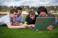 L'équipe du projet Green Edge : quatre étudiants de l'Epita.