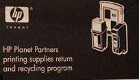 Programme de recyclage de cartouche d'encre d'HP