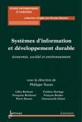 Livre - Lavoisier - Système d'information et développement durable - couverture