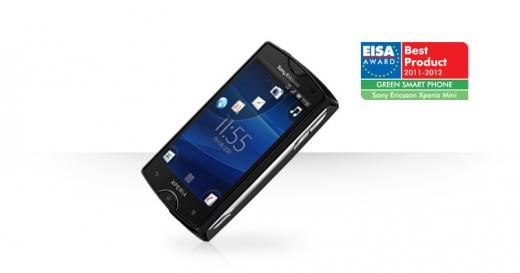 Téléphone - Sony Ericsson - Xperia Mini - EISA Green Award