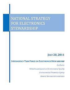 USA - National Strategy for Electronics Stewardship - couverture du rapport