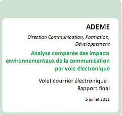 ADEME - étude sur l'empreinte écologique de la communication électronique - small