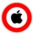 Apple - panneau interdit - logo noir