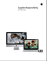 Apple - Rapport RSE fournisseurs - Suppliers CSR Report - cover PDF