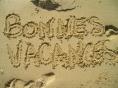 Bonnes Vacances - sable - 520 pix