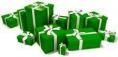 generique - paquets cadeaux verts