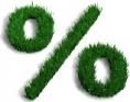 generique - chiffre - pourcentage - vert