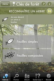 ONF - application mobile - clés des forêts