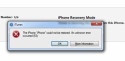 Apple - iOS - iPhone 6 - Erreur 53