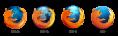 Logiciel - Mozilla - Firefox - évolution du logo dans le temps - 470px width