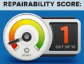 iFixit - réparabilité - score 1 sur 10 - 520px