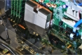 Intel - refroidissement à huile - carte mère dans un bain d'huile