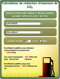 LogMeIn - calculateur CO2 déplacement en voiture