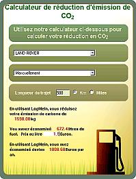 LogMeIn - calculateur CO2 déplacement en voiture