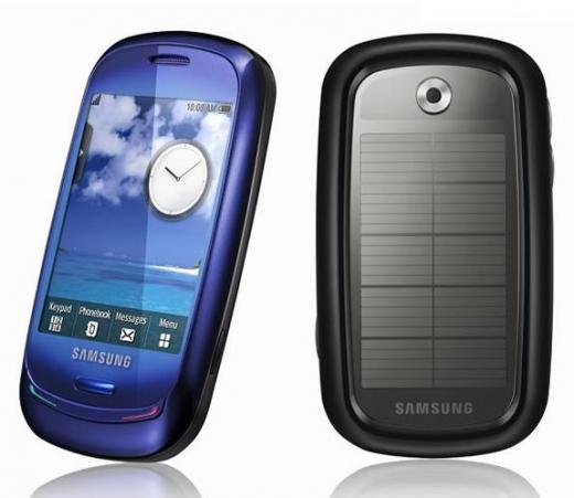 Samsung - téléphone - mobile - Blue Earth - solaire