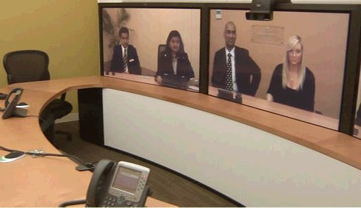 Téléprésence - Tata Communications Telepresence - based on Cisco Telepresence - room