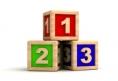 Générique - classement - podium - 3 cubes en bois