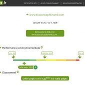 Page de résultat de EcoIndex.fr