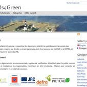 Capture d'écran de la page d'accueil du site Seeds4green.net