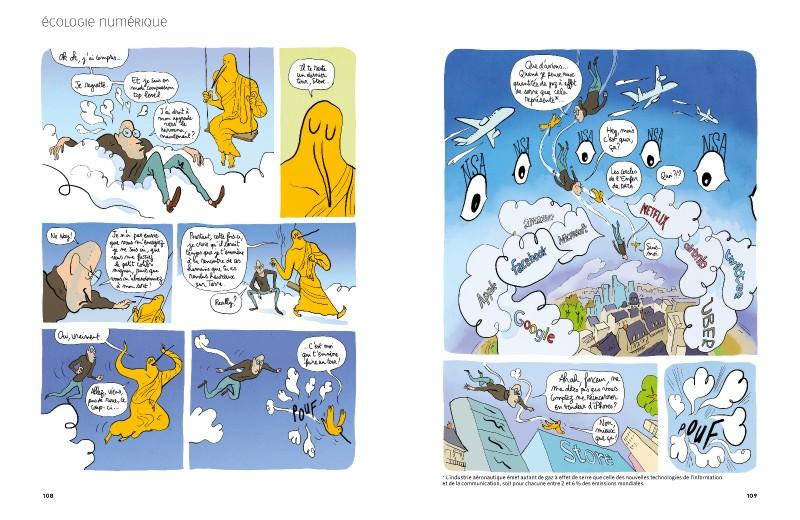 La Revue Dessinée n°15 - extrait du reportage sur les impacts du numérique