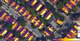 Capture de Google Sunroof montrant le potentiel solaire sur une toiture de maison