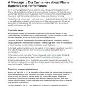 Apple - iPhone bridé - excuses - screenshot