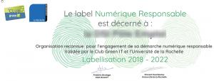 Un label Numérique Responsable en test