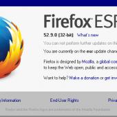 Mozilla - Firefox 52.9 ESR - about