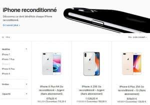 Site web Apple - iPhone reconditionnés